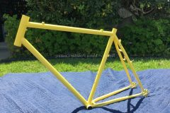#160 Disco Ball over #40 Label Yellow Bike Frame - 017