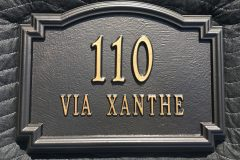 #67 Stardust Gold on top of #63 Oil Rubbed Bronze - Address Plate