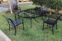 #04 Hidden Black Patio Set of 4 chairs 000