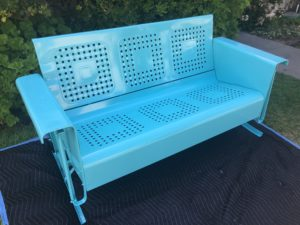 #25 Life Aquatic Green - Swing Bench 013